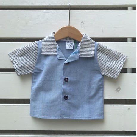 542.【USED】Blue Cotton Shirts