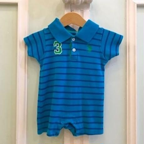 603.【USED】Blue U.S. POLO  Rompers