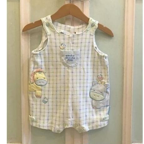 630.【USED】Pastel Colour Animal Rompers