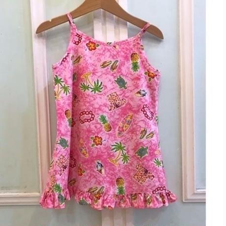 605.【USED】Pink Hawaiian Dress( Made in U.S.A.)