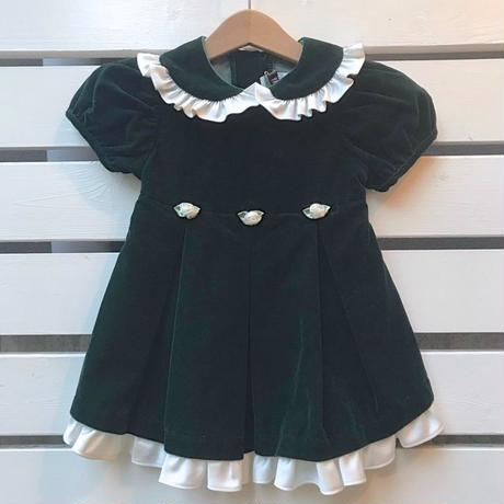 465.【USED】Dark Green  Frill Dress