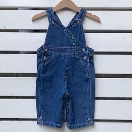 687.【USED】Blue Stitch Denim Overall