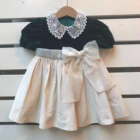 457.【USED】Big Ribbon Tulle Dress
