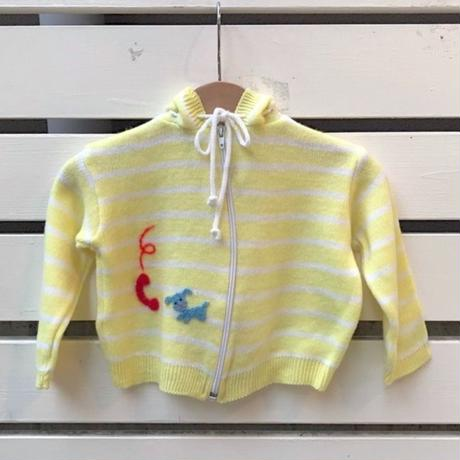 397.【USED】Yellow Border Knit Parker