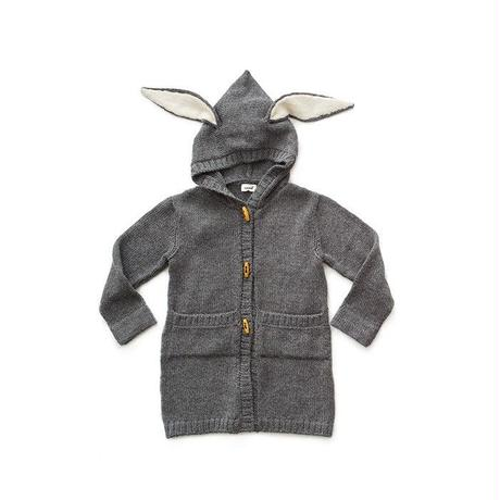 242.【oeuf】BUNNY TOGGLE SWEATER/ Dark Grey