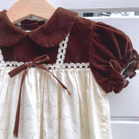 916.【USED】Cotton &Velours Sweet Dress