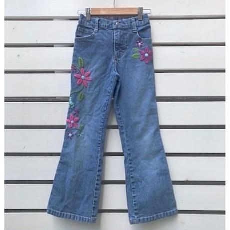 """670.【USED】""""Lee"""" Flower Denim long pants"""