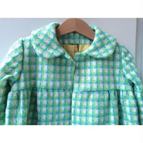 141.【USED】Vintage Zigzag pattern Coat