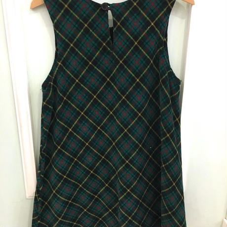 "303.【USED】""GYMBOREE"" Corduroy Check dress"