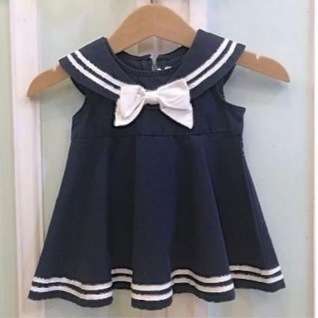 562.【USED】Navy Sailor collar Dress