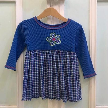 392.【USED】Pop Collor Flower Dress
