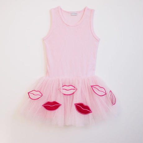 Lip tulle tankdress PK