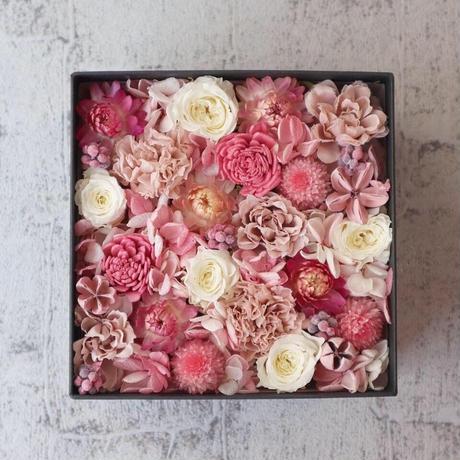 【1点もの/販売】Flower Box -くすみpink -