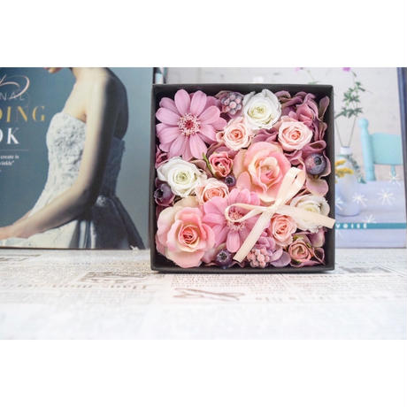 BOX FLOWER Smoky pink