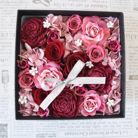 BOX FLOWER PinkRed