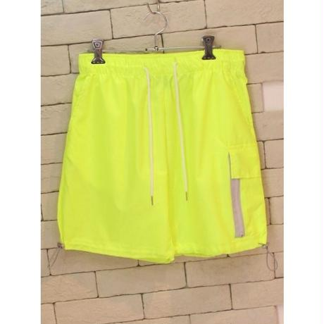 NYLON ZIPPER CARGO SHORTS SAFETY GREEN