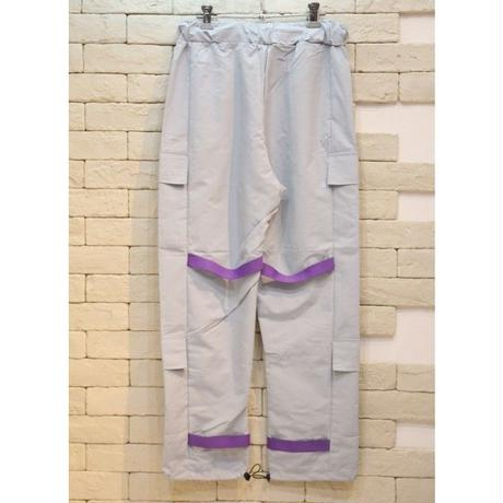 RUBBER BAND NYLON CARGO PANTS GREY