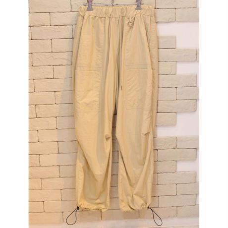 NYLON WIDE PANTS SAND