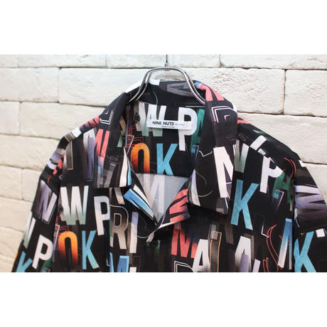 S/S ALPHABET SHIRTS BLACK