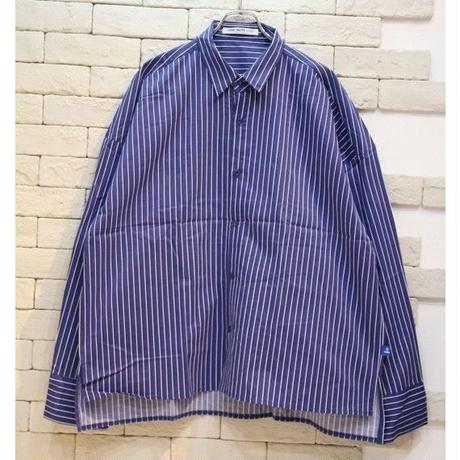 L/S  OVERSIZED STRIPE SHIRTS DARK BLUE