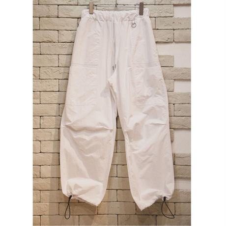 NYLON WIDE PANTS WHITE