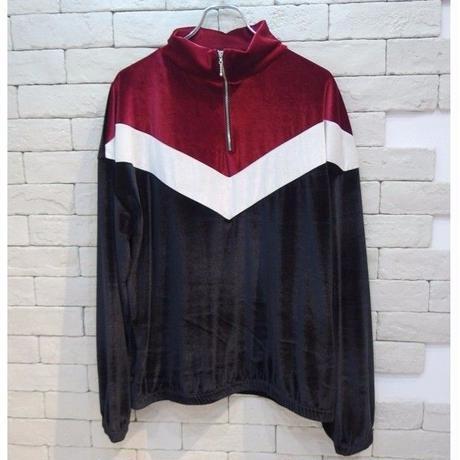 VELVET H/Z SWEAT BLACK/RED/WHITE