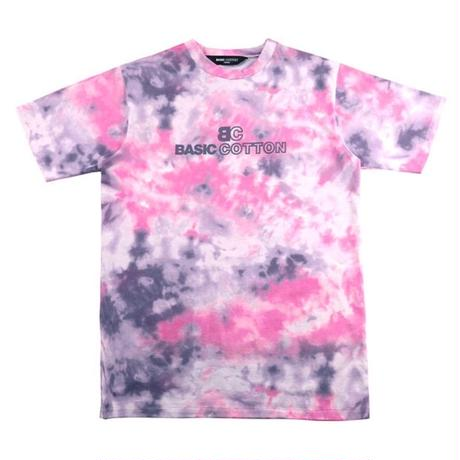 BASIC COTTON TIE DYE TEE PINK