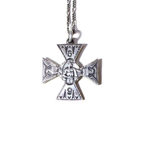 B.W.G x CHOOKE / INDIAN and EAGLE SURFERS CROSS NECKLACE