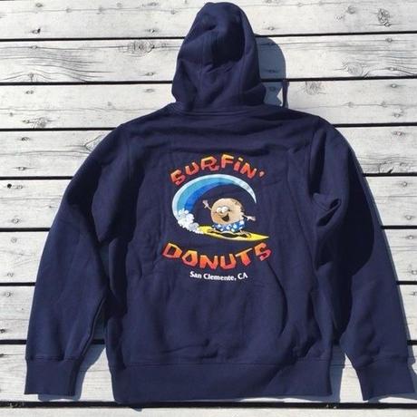 SURFIN DOUNUTS サーフィンドーナッツ フードパーカー NVY