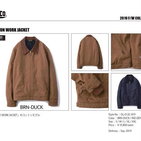 2019秋冬予約開始 BLUCO(ブルコ) COTTON WORK JACKET 2色 ダック素材 パーカー カーハート