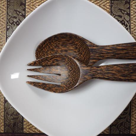ココナッツ サラダスプーン&フォーク
