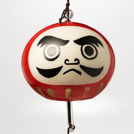 江戸風鈴 小丸「だるま」 Edo Fu-Lin (small): Dharma doll