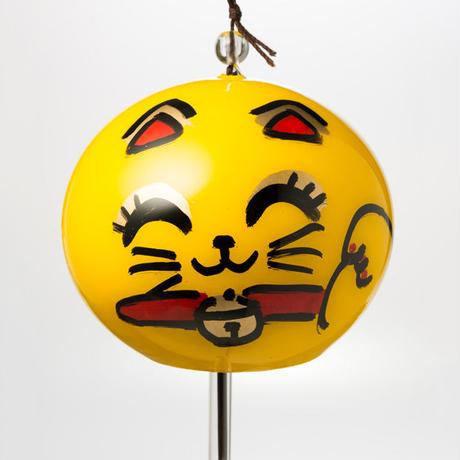 江戸風鈴 小丸「金運招き猫(スマイル)」 Edo Fu-Lin (small): Maneki-Neko [smile]