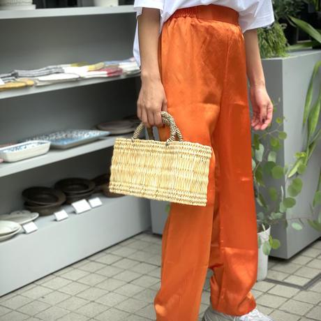ATWT オリジナル カラーサテンパンツ   オレンジ