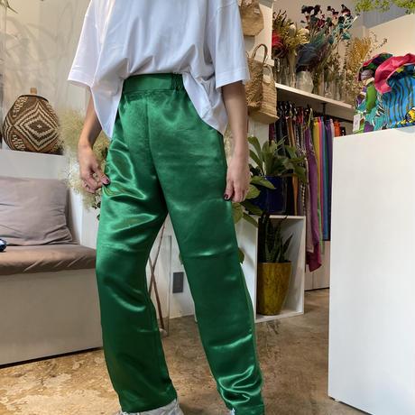 ATWT オリジナル カラーサテンパンツ    グリーン