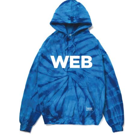 """""""WEB"""" パーカー (TIEDIE  BLUE)"""