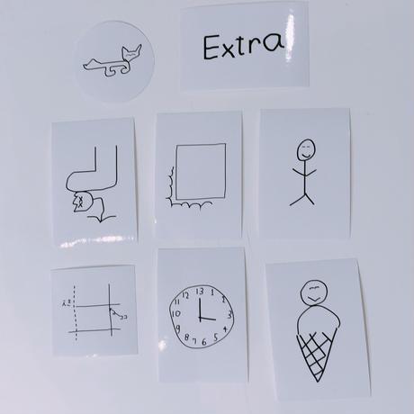 """平山昌尚(HIMAA)×  LIVERARY  """"Extra"""" Sticker Set(8枚入り)"""