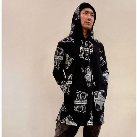 LIVING LEGEND. TOKYO × SMACK ENGINEER Collaboration Long Parka BLACK