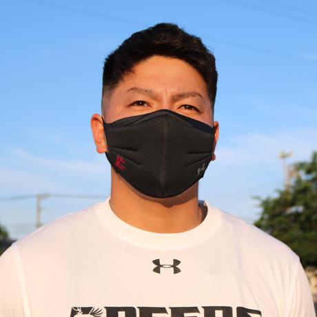 DEERSロゴ入りアンダーアーマー製マスク ブラック