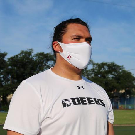 DEERSロゴ入りアンダーアーマー製マスク ホワイト