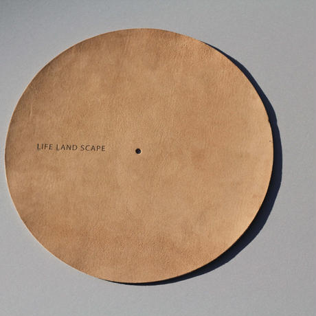 """Leather slip mat """"brown"""" 12inch"""