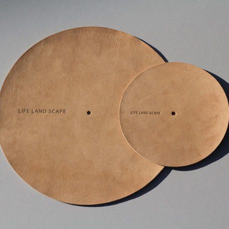 "Leather slip mat ""brown"" 7inch"
