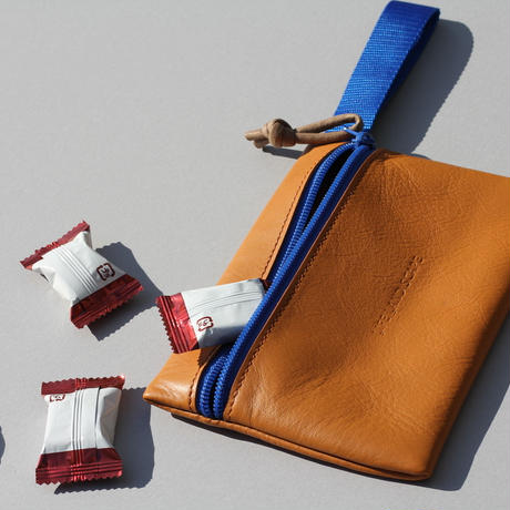 "DROP POUCH "" camel""(50%off)"