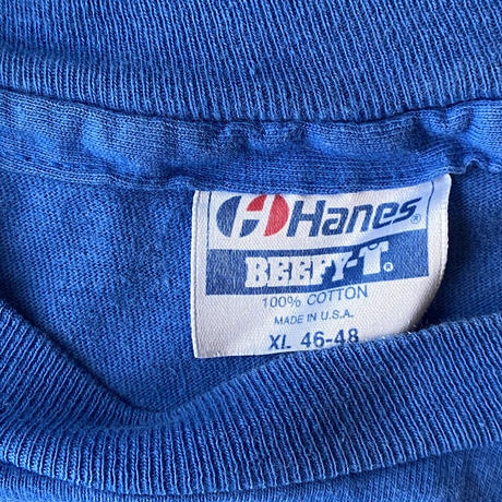 """1990s Hanes MLB CUBS """"LARRY COX"""" Printed Tee"""
