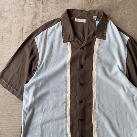 Paradise Collection Bicolor Open Collar Silk Shirts