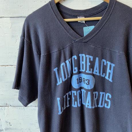 80s Champion Football Tee Long Beach Lifeguards