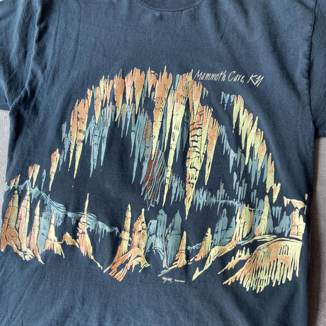 1980s JERZEES Mammoth Cave Printed Tee