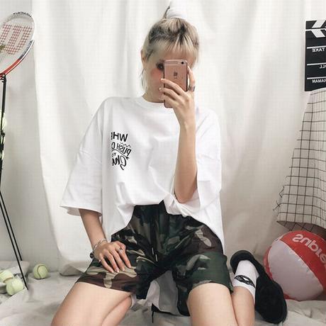 ユニセックス 半袖 Tシャツ メンズ レディース 英字 バックプリント オーバーサイズ 大きいサイズ ルーズ ストリート TBN-593812116623