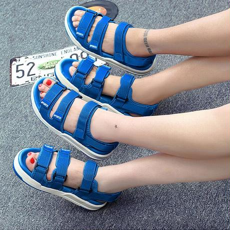 【3COLOR】 メンズ/レディース ストラップ スポーツサンダル スポーツサンダル マジックテープ フラットサンダル 歩きやすい 疲れない (DCT-549746097388)
