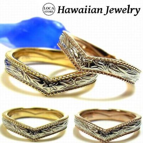 【ハワイアンジュエリー / HawaiianJewelry】 ステンレスリング/指輪 プリメリア カレイキニ スクロール ハート (grs8533)